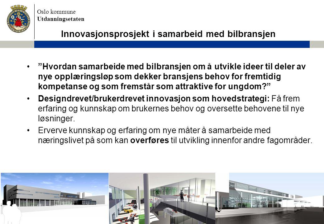 Innovasjonsprosjekt i samarbeid med bilbransjen