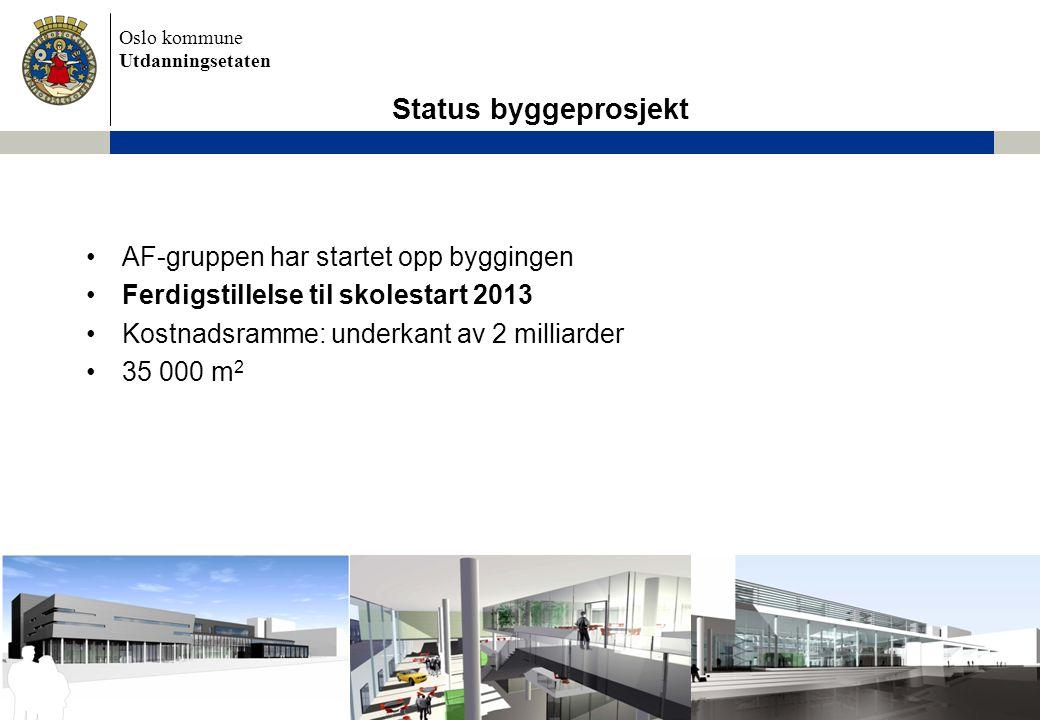 Status byggeprosjekt AF-gruppen har startet opp byggingen