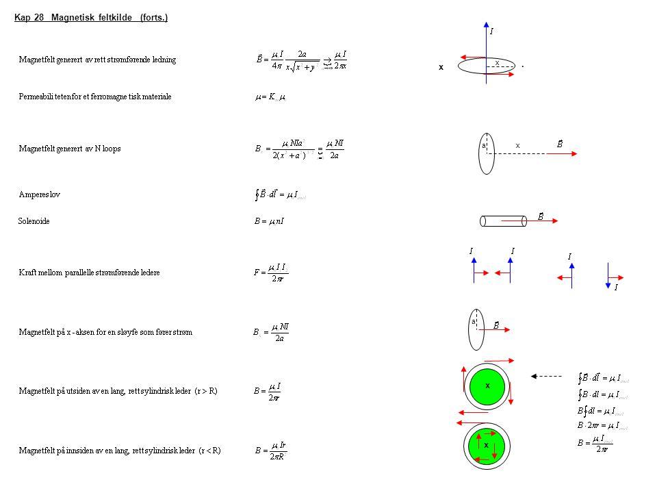 Kap 28 Magnetisk feltkilde (forts.)