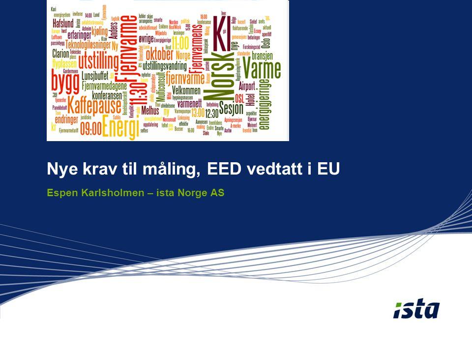 Nye krav til måling, EED vedtatt i EU