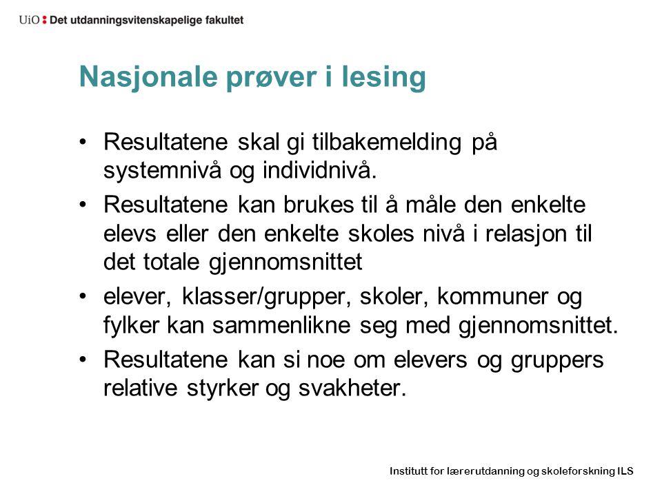 Nasjonale prøver i lesing