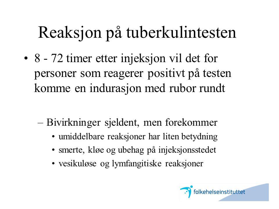 Reaksjon på tuberkulintesten