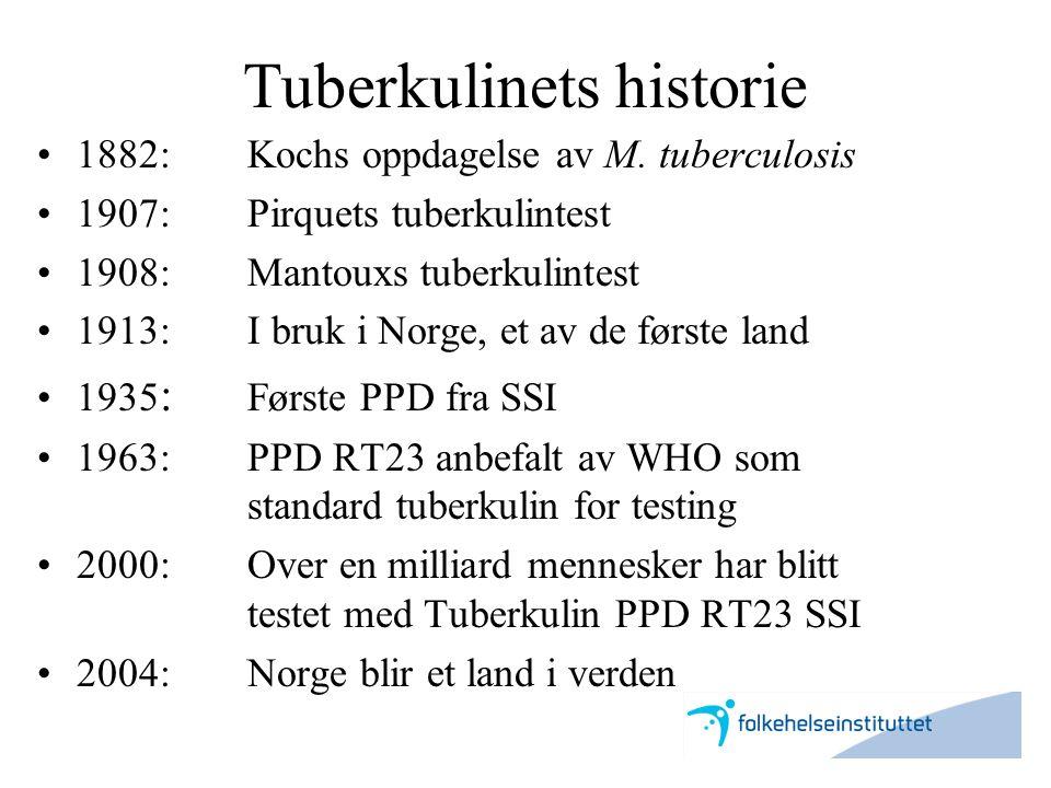 Tuberkulinets historie