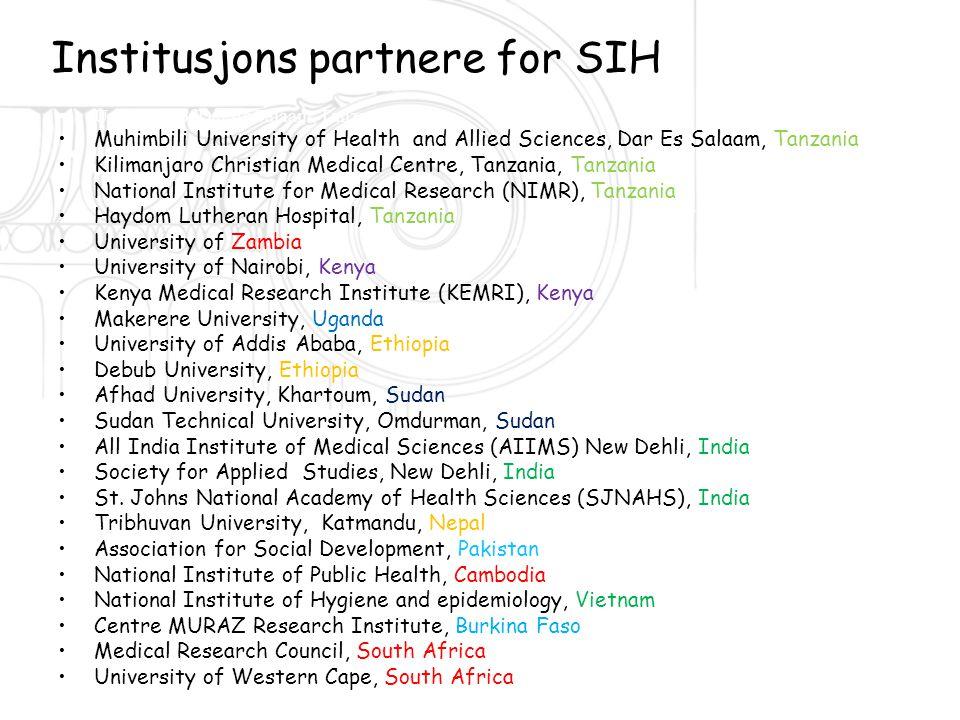 Institusjons partnere for SIH