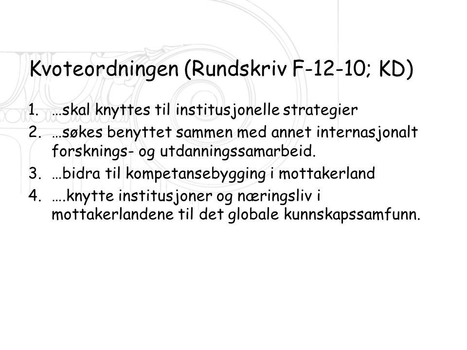 Kvoteordningen (Rundskriv F-12-10; KD)