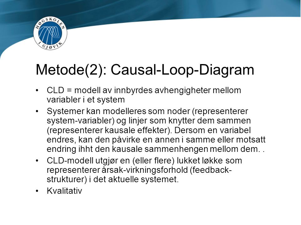 Metode(2): Causal-Loop-Diagram