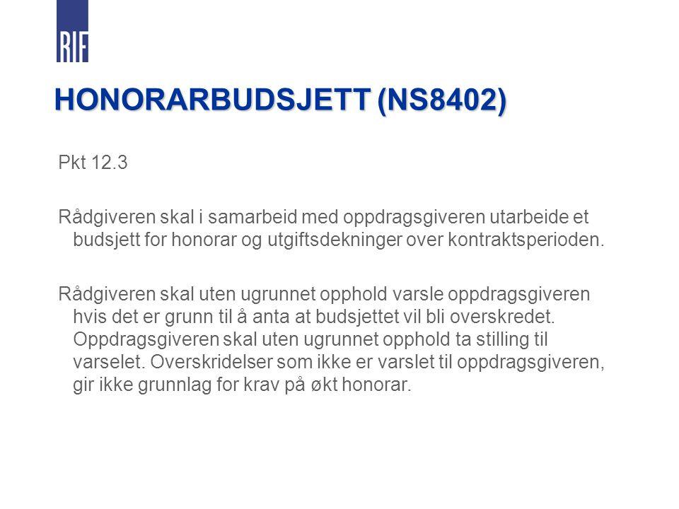 HONORARBUDSJETT (NS8402) Pkt 12.3