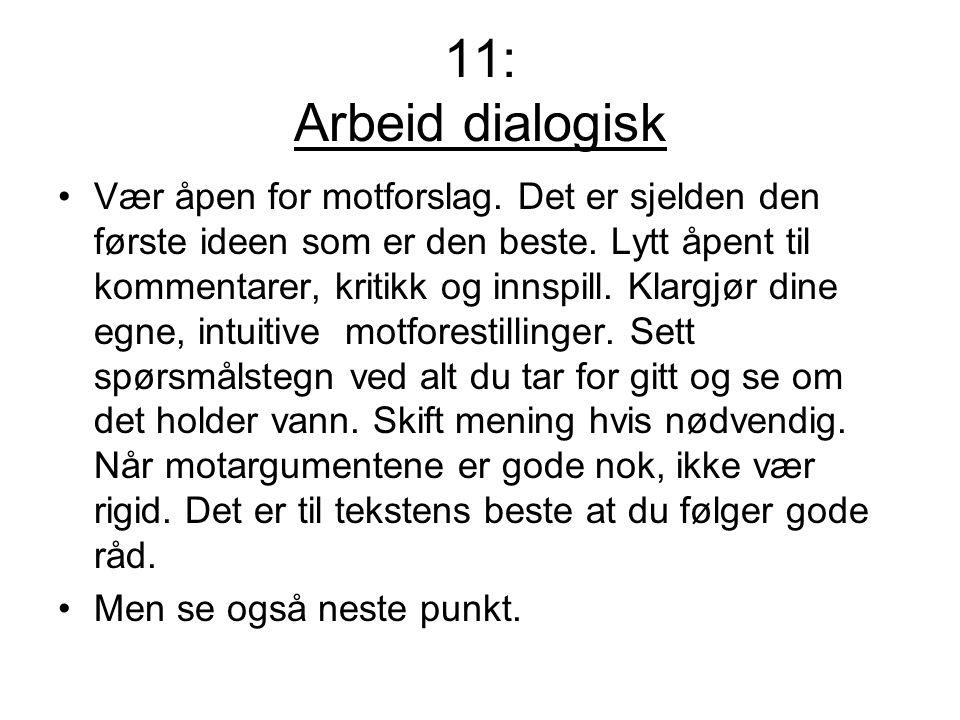 11: Arbeid dialogisk