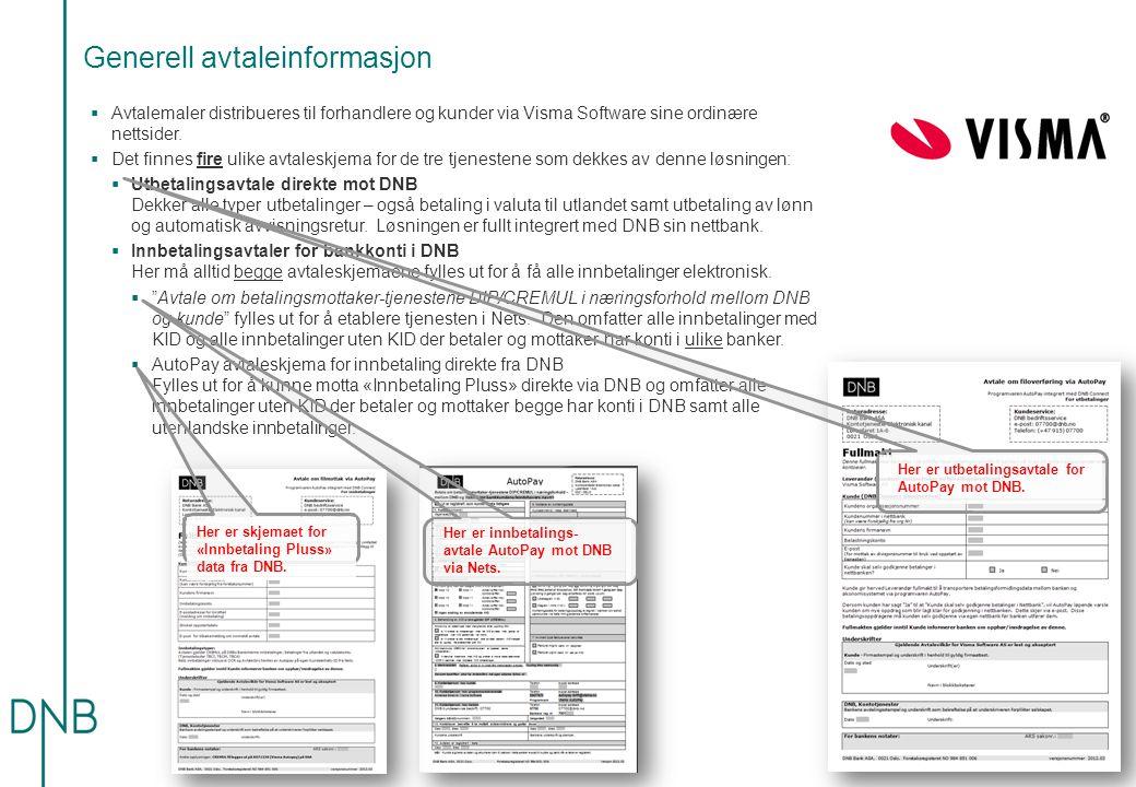Generell avtaleinformasjon