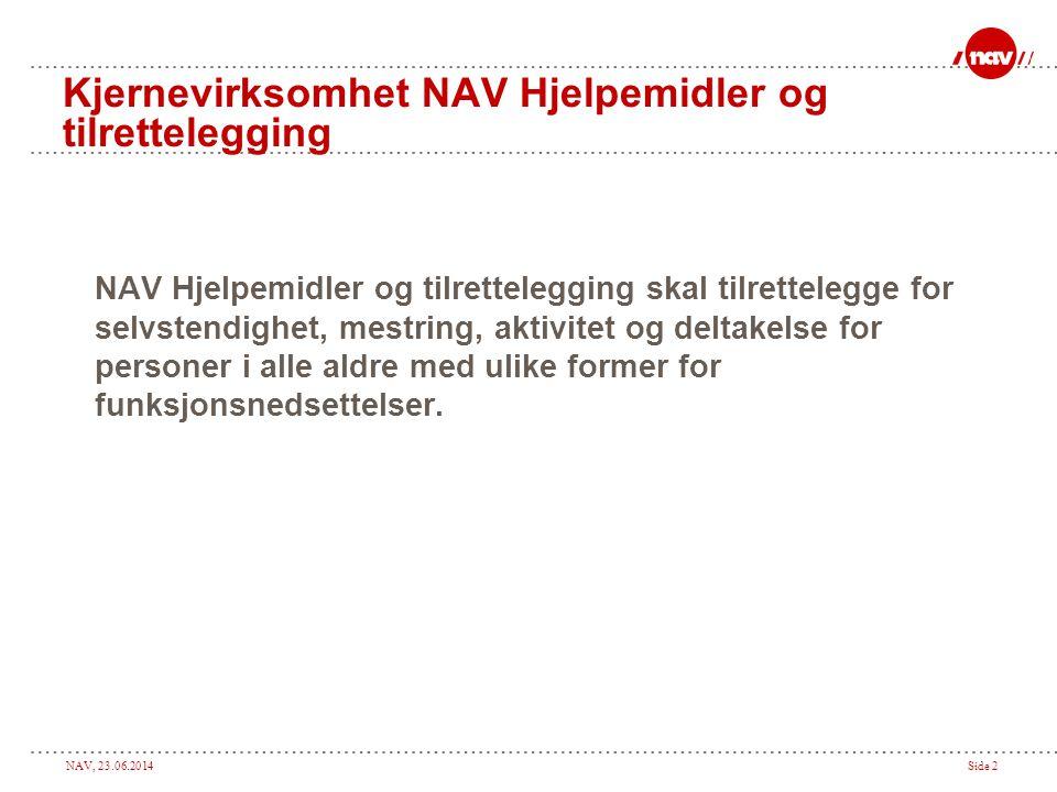 Kjernevirksomhet NAV Hjelpemidler og tilrettelegging