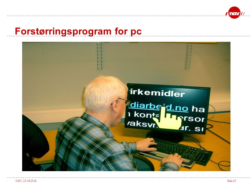Forstørringsprogram for pc