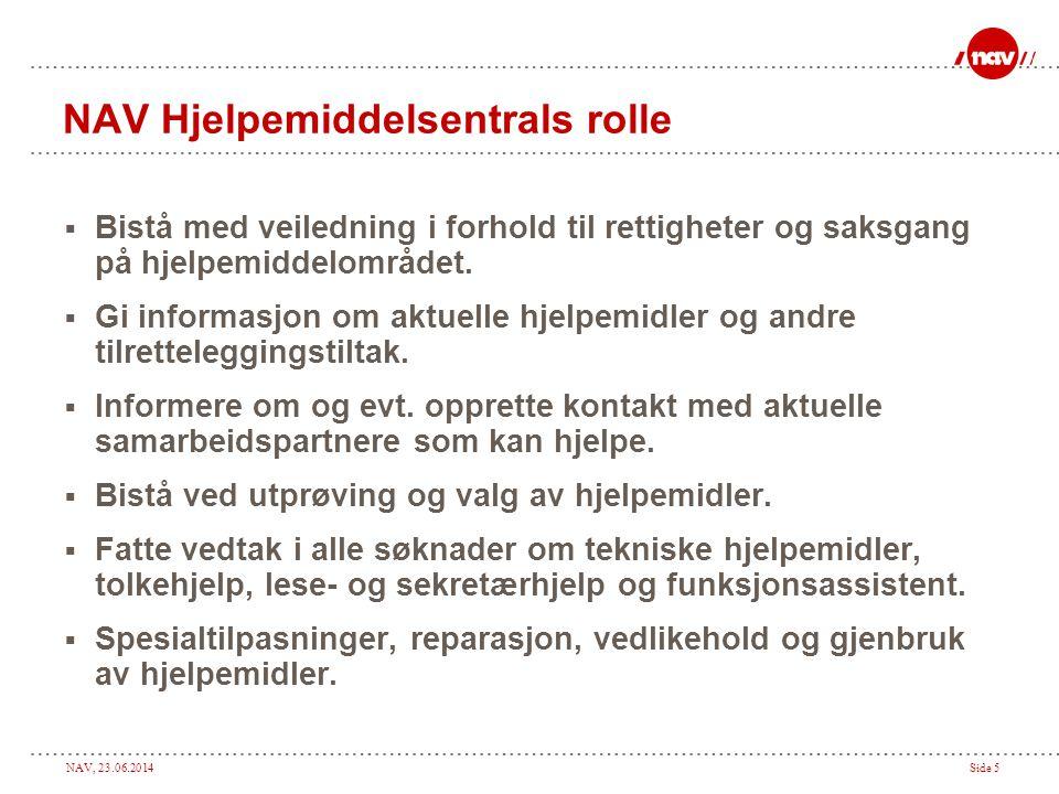 NAV Hjelpemiddelsentrals rolle
