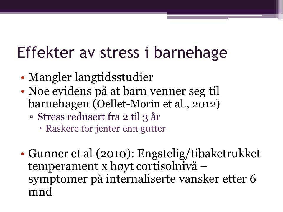 Effekter av stress i barnehage