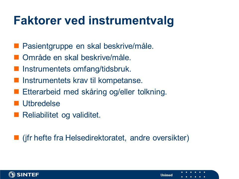Faktorer ved instrumentvalg