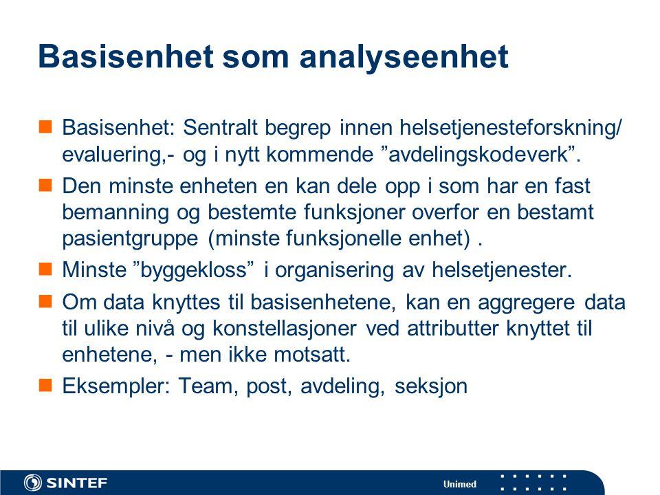 Basisenhet som analyseenhet