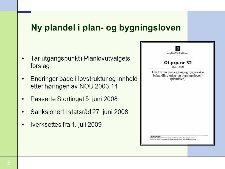 Ny plandel i plan- og bygningsloven