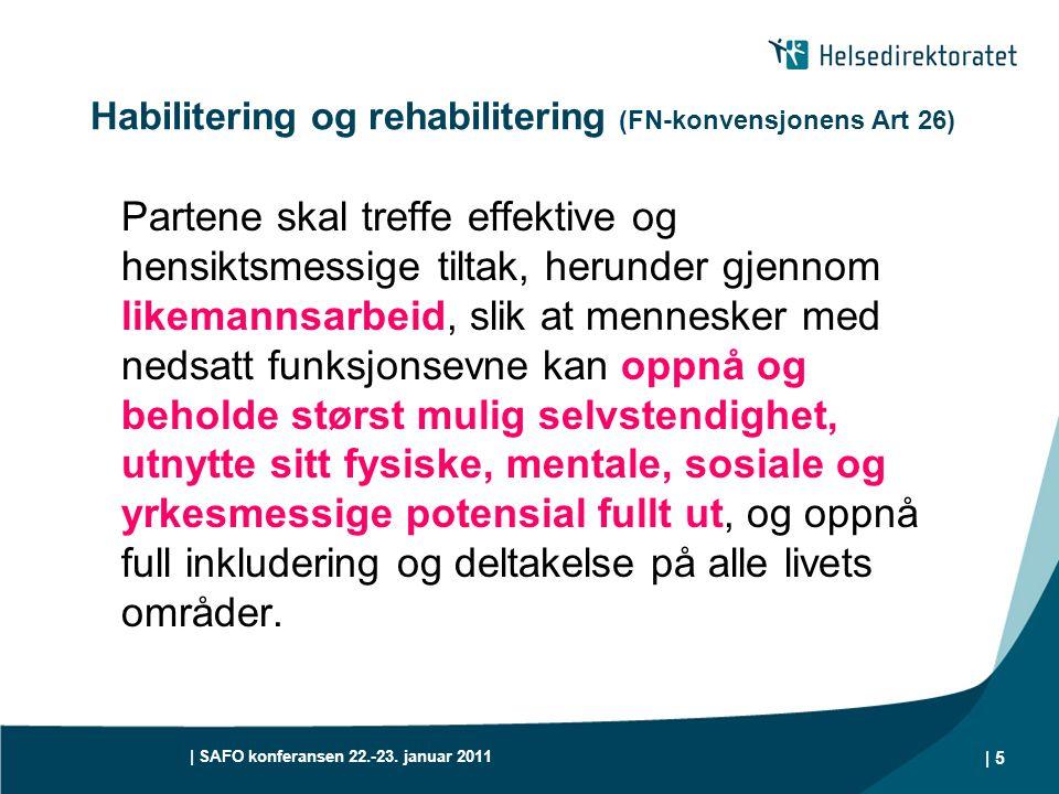 Habilitering og rehabilitering (FN-konvensjonens Art 26)