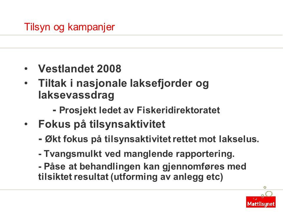 Tiltak i nasjonale laksefjorder og laksevassdrag