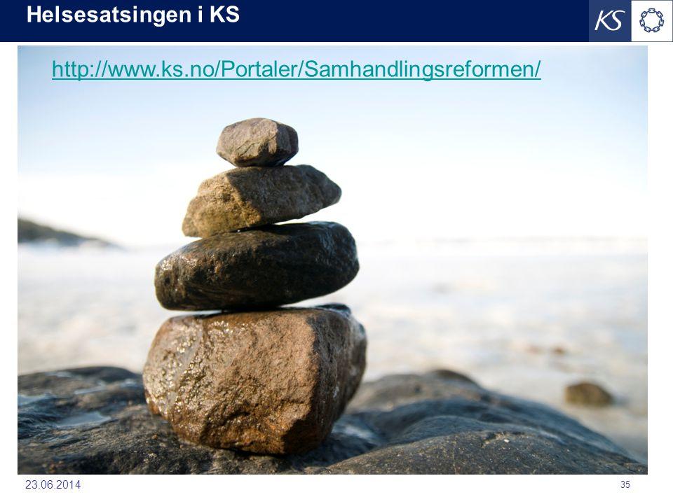 Helsesatsingen i KS http://www.ks.no/Portaler/Samhandlingsreformen/