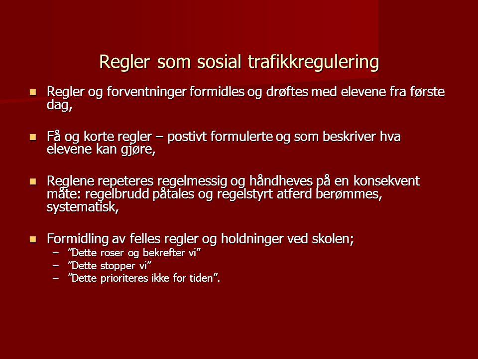 Regler som sosial trafikkregulering