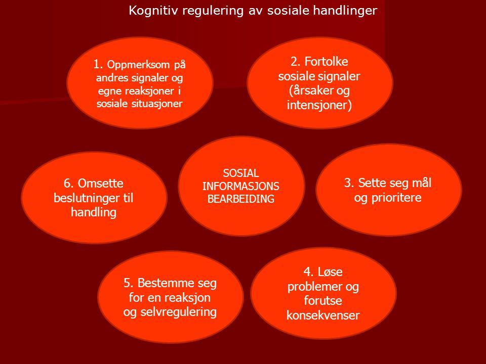 Kognitiv regulering av sosiale handlinger