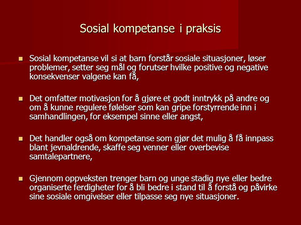 Sosial kompetanse i praksis