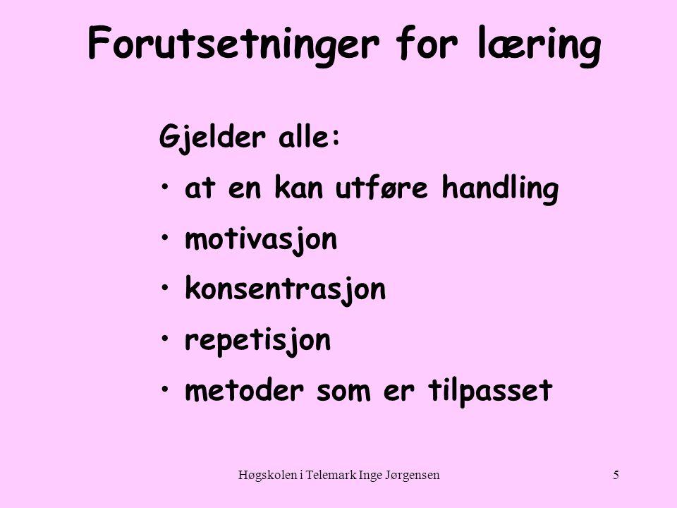 Forutsetninger for læring
