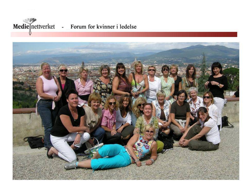 Bildet viser 23 norske medieledere på tur (lederutviklingskurs i Firenze, sept 07)