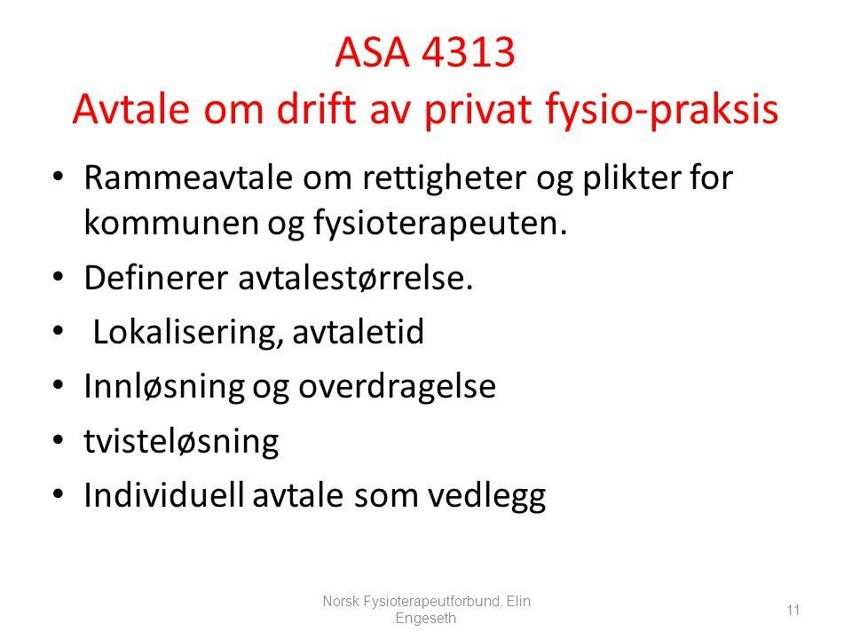 ASA 4313 Avtale om drift av privat fysio-praksis