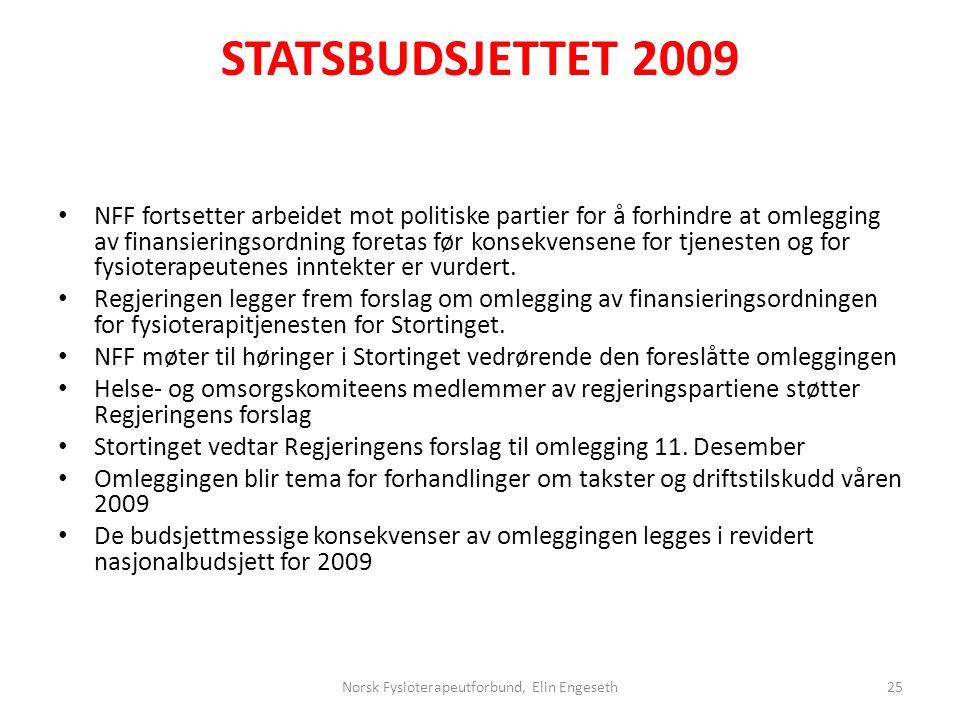 Norsk Fysioterapeutforbund, Elin Engeseth