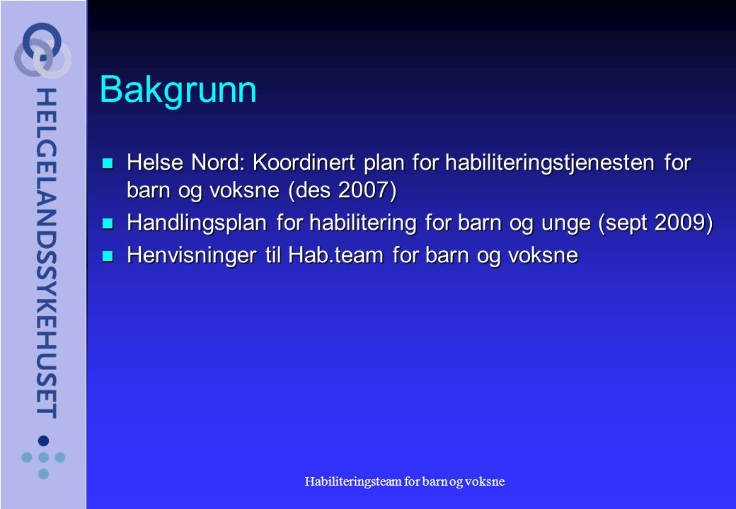 Habiliteringsteam for barn og voksne