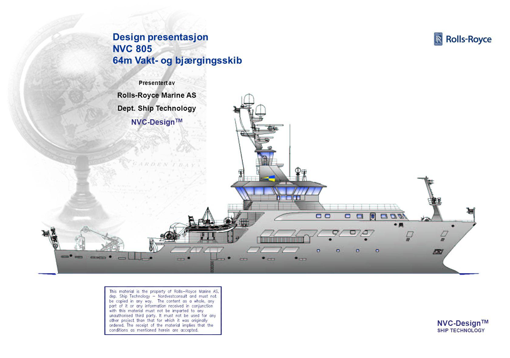 Design presentasjon NVC 805 64m Vakt- og bjærgingsskib