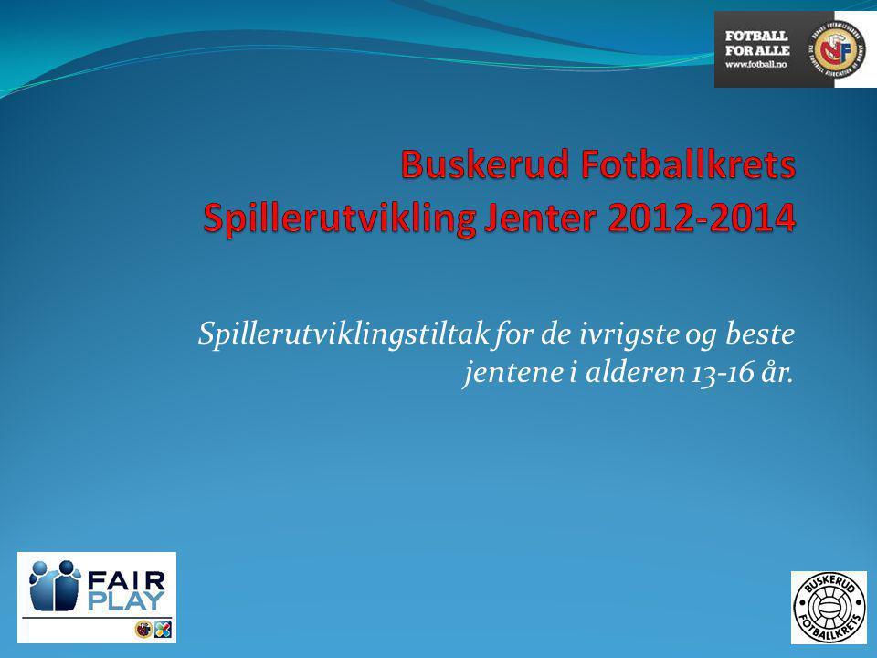 Buskerud Fotballkrets Spillerutvikling Jenter 2012-2014