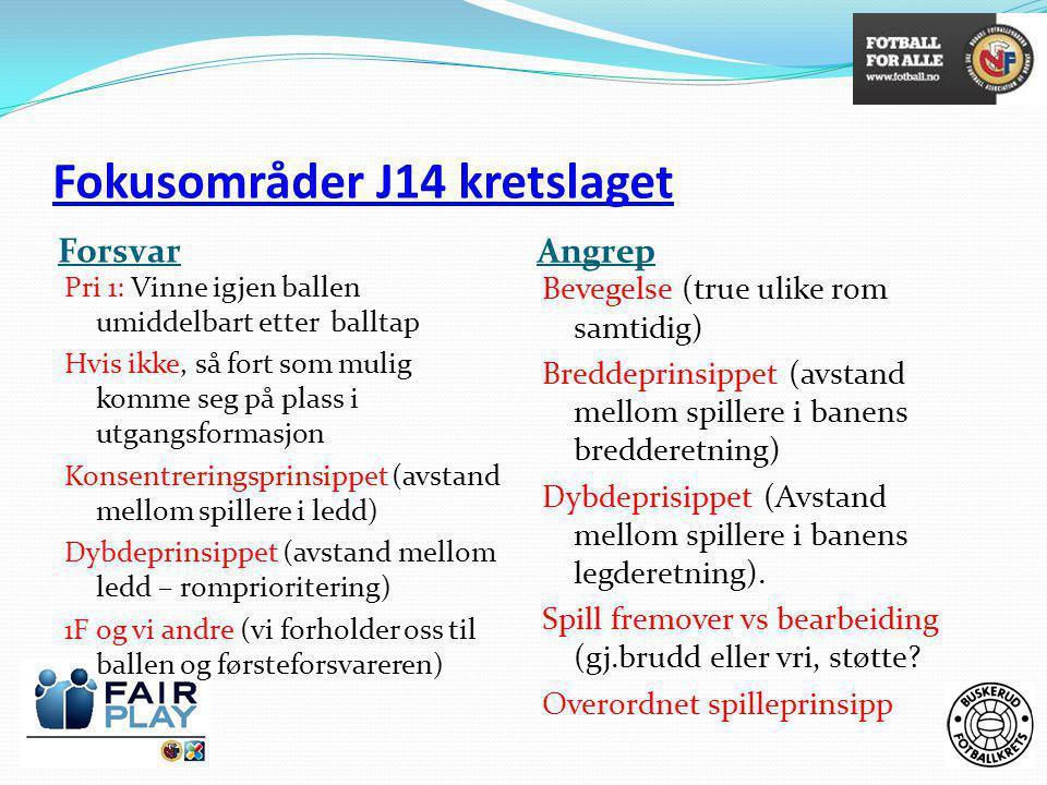 Fokusområder J14 kretslaget