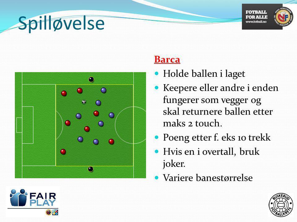 Spilløvelse Barca Holde ballen i laget