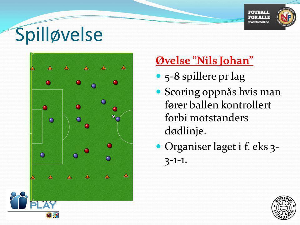 Spilløvelse Øvelse Nils Johan 5-8 spillere pr lag