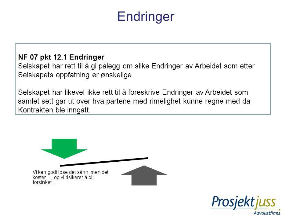 Endringer NF 07 pkt 12.1 Endringer