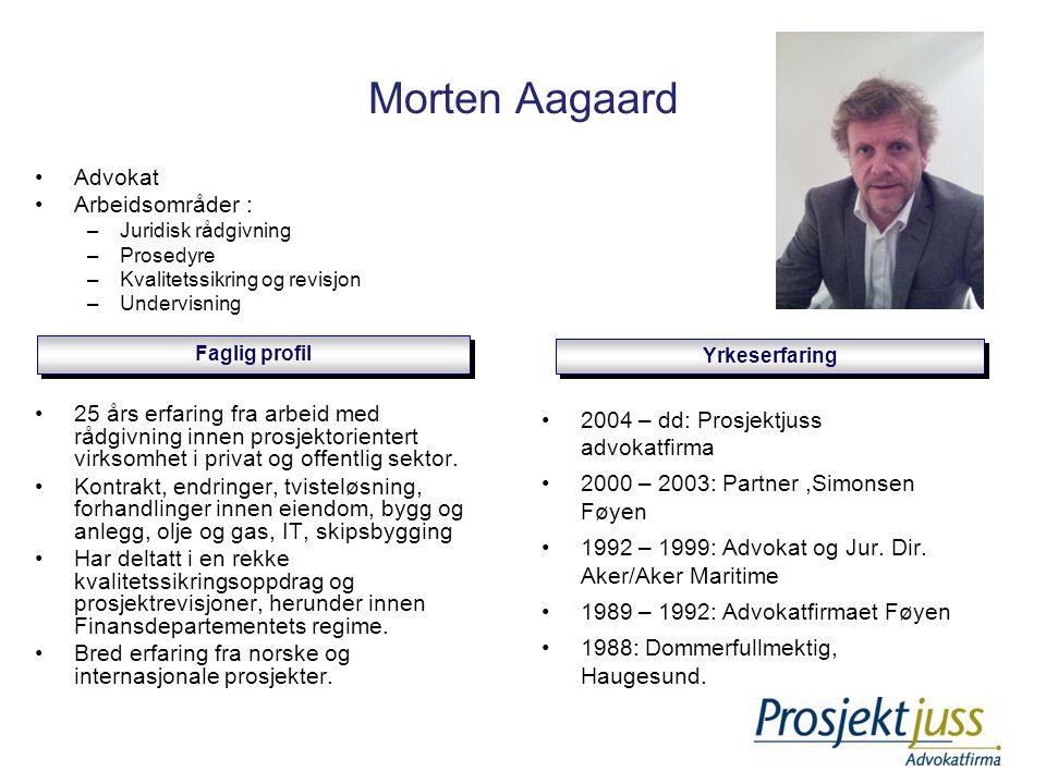 Morten Aagaard Advokat Arbeidsområder :
