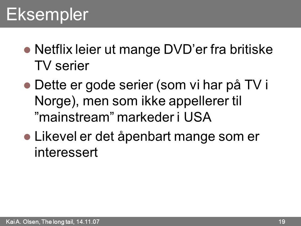Eksempler Netflix leier ut mange DVD'er fra britiske TV serier