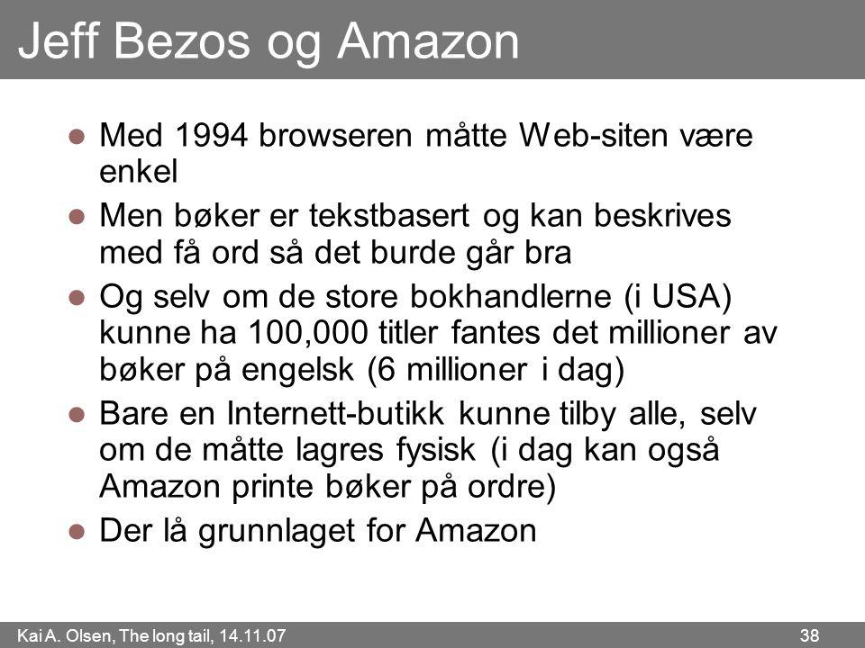 Jeff Bezos og Amazon Med 1994 browseren måtte Web-siten være enkel