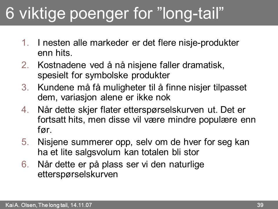 6 viktige poenger for long-tail
