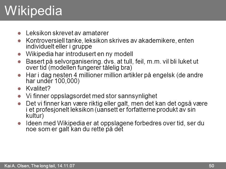 Wikipedia Leksikon skrevet av amatører