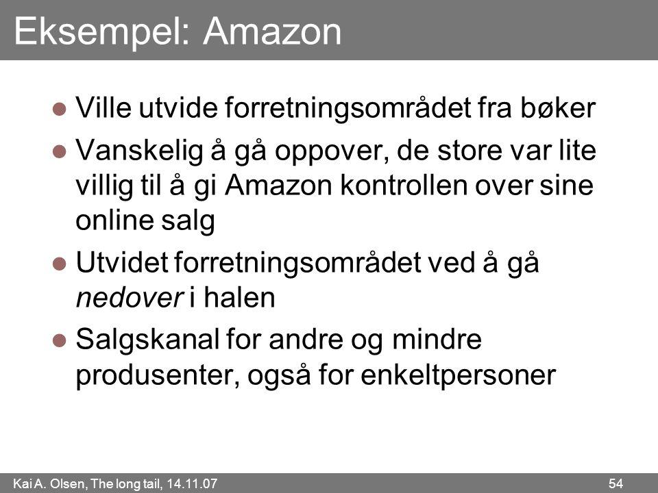 Eksempel: Amazon Ville utvide forretningsområdet fra bøker