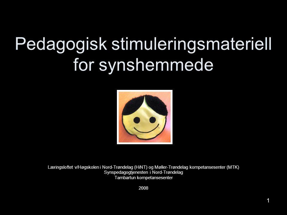 Pedagogisk stimuleringsmateriell for synshemmede