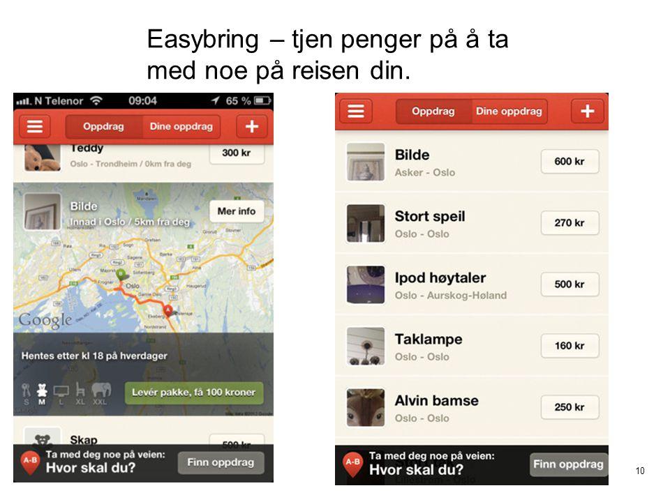 Easybring – tjen penger på å ta med noe på reisen din.