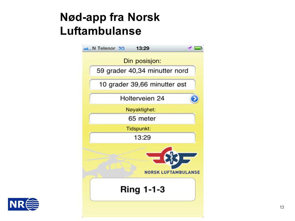 Nød-app fra Norsk Luftambulanse