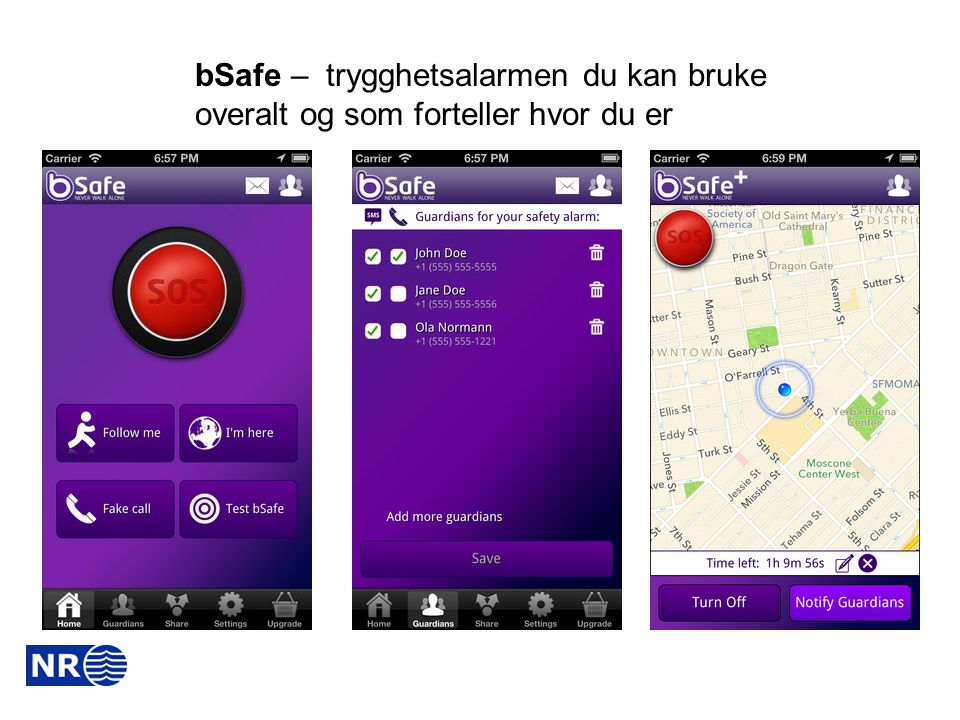 bSafe – trygghetsalarmen du kan bruke overalt og som forteller hvor du er
