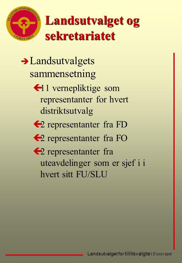 Landsutvalget og sekretariatet