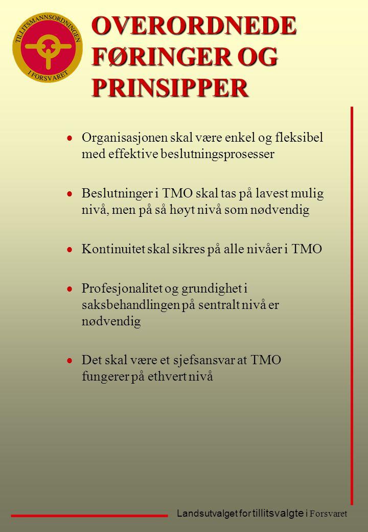 OVERORDNEDE FØRINGER OG PRINSIPPER