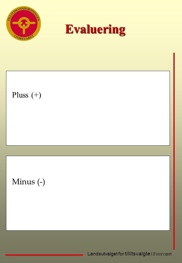 Evaluering Pluss (+) Minus (-)